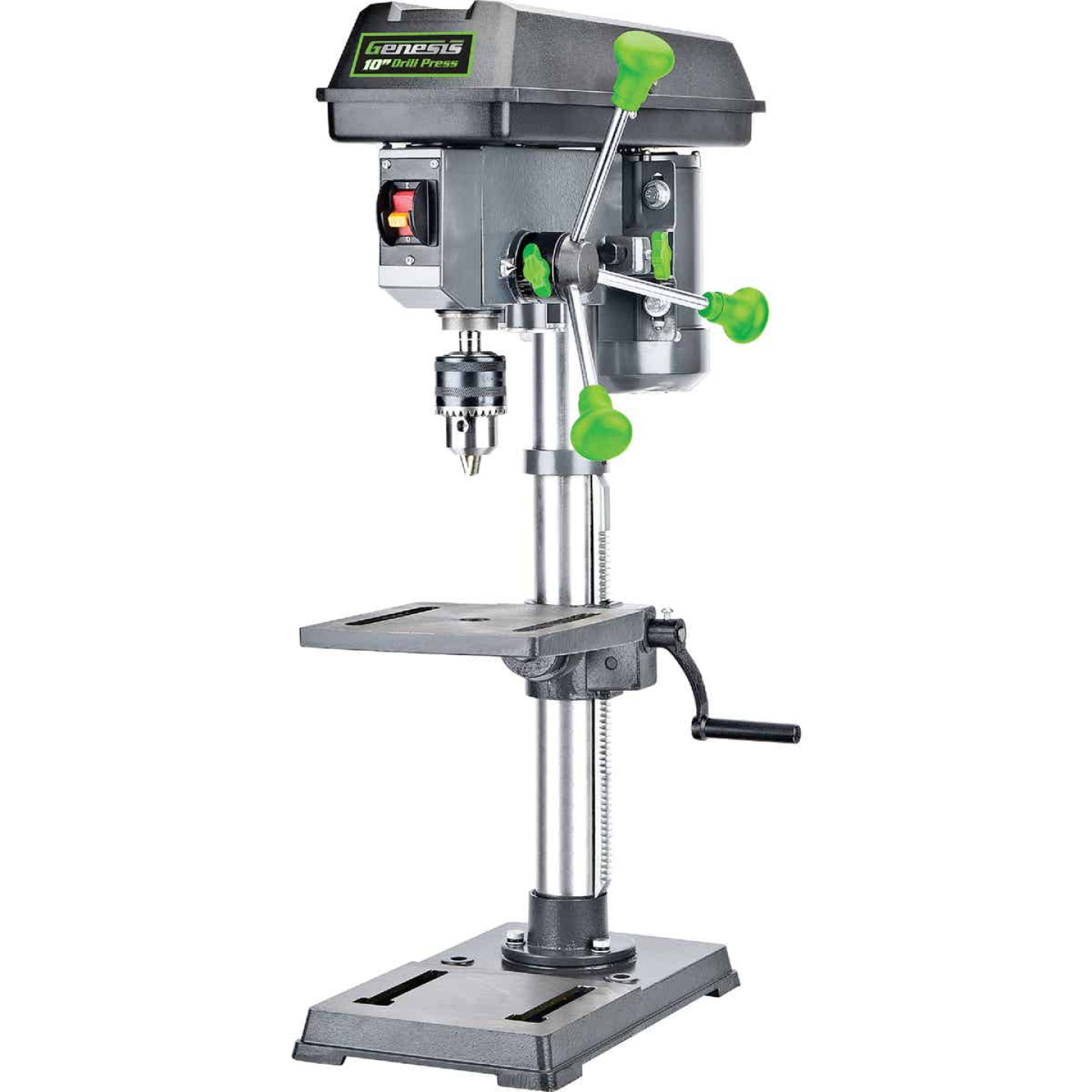 Genesis 10 In. 5-Speed Bench Top Drill Press with Work Light Image 1