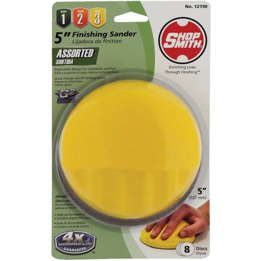 Shop Smith 5 In. Dia. Palm Hand Sanding Kit