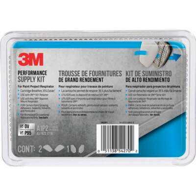 3M OV/P95 Paint Replacement Filter Cartridge with Pre-Filter Pack (2-Pack)