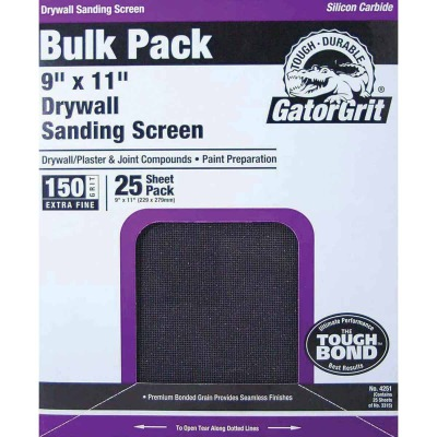 Gator Grit 150 Grit 9 In. x 11 In. Drywall Sanding Screen (25 Pack)