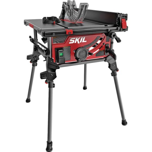 SKIL 15A 10 In. Jobsite Table Saw with Integrated Folding Stand