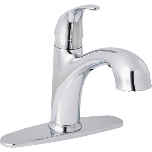 Home Impressions Single Handle Lever Pull-Out Kitchen Faucet, Chrome