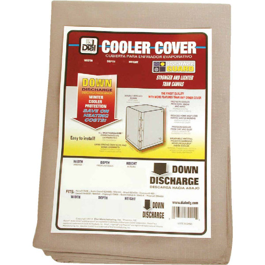 Dial 34 In. W x 34 In. D x 40 In. H Polyester Evaporative Cooler Cover, Down Discharge