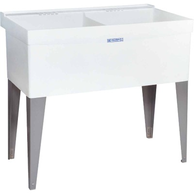 Mustee Utilatwin 38 Gallon 40 In. W x 24 In. L Double Laundry Tub