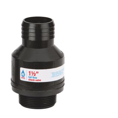 Drainage Industries 1-1/2 In. ABS Thermoplastic Full-Flow Sump Pump Check Valve