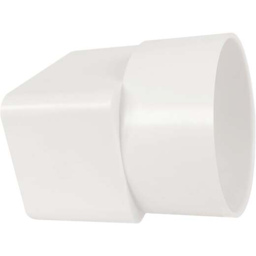 IPEX Canplas 2 In. x 3 In. x 3 In. White Styrene Downspout Adapter