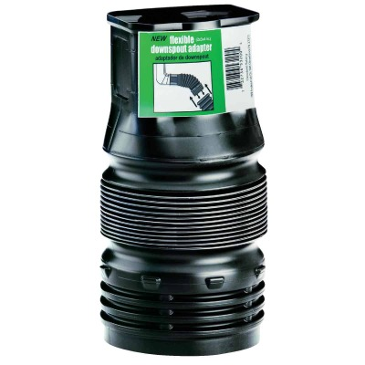 Amerimax Flexible 2 In. X 3 In. X 4 In. Downspout Adapter