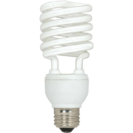 Satco 100W Equivalent Warm White Medium Base T2 Spiral CFL Light Bulb (3-Pack)