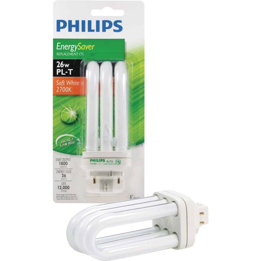 Philips 100W Equivalent Soft White GX24 Base PL-T CFL Light Bulb