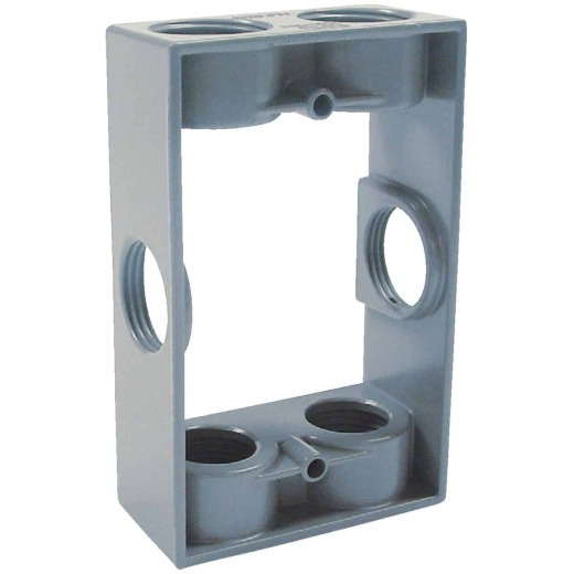 Bell 6-Outlet 3/4 In. NPT Die-Cast Aluminum Weatherproof Outdoor Box Extension Adapter
