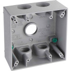 Hubbell 2-Gang 3/4 In. 5-Outlet Gray Aluminum Weatherproof Electrical Box Image 1
