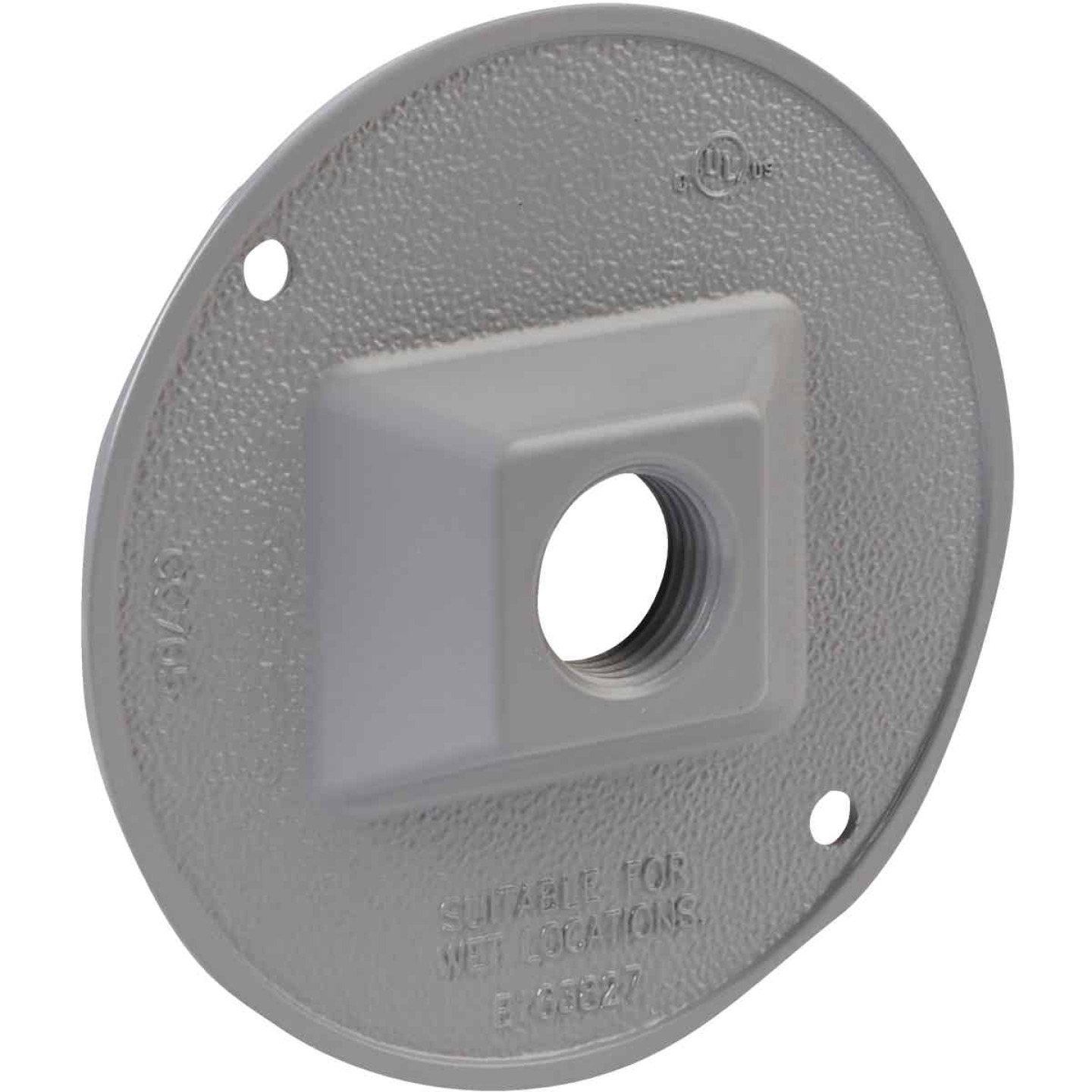 Bell 1-Outlet Round Zinc Gray Cluster Weatherproof Outdoor Electrical Cover, Carded Image 3