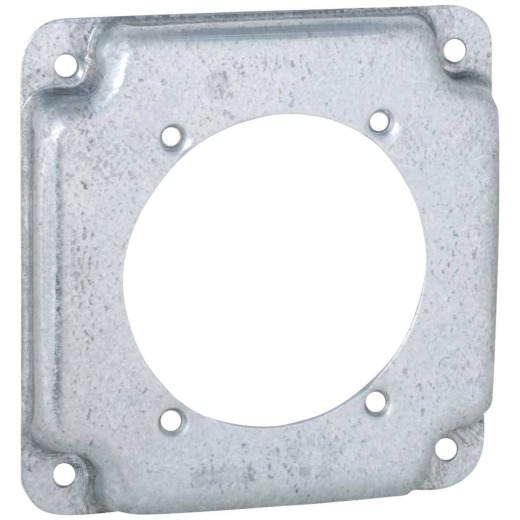 Raco 2.465 In. Dia. Receptacle 4 In. x 4 In. Square Device Cover