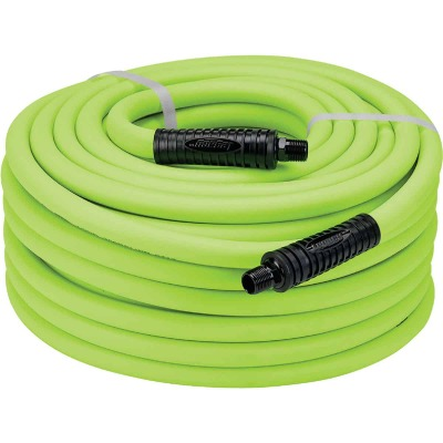 Flexilla 1/2 In. x 50 Ft. Polymer-Blend Air Hose with 3/8 In. MNPT Fittings