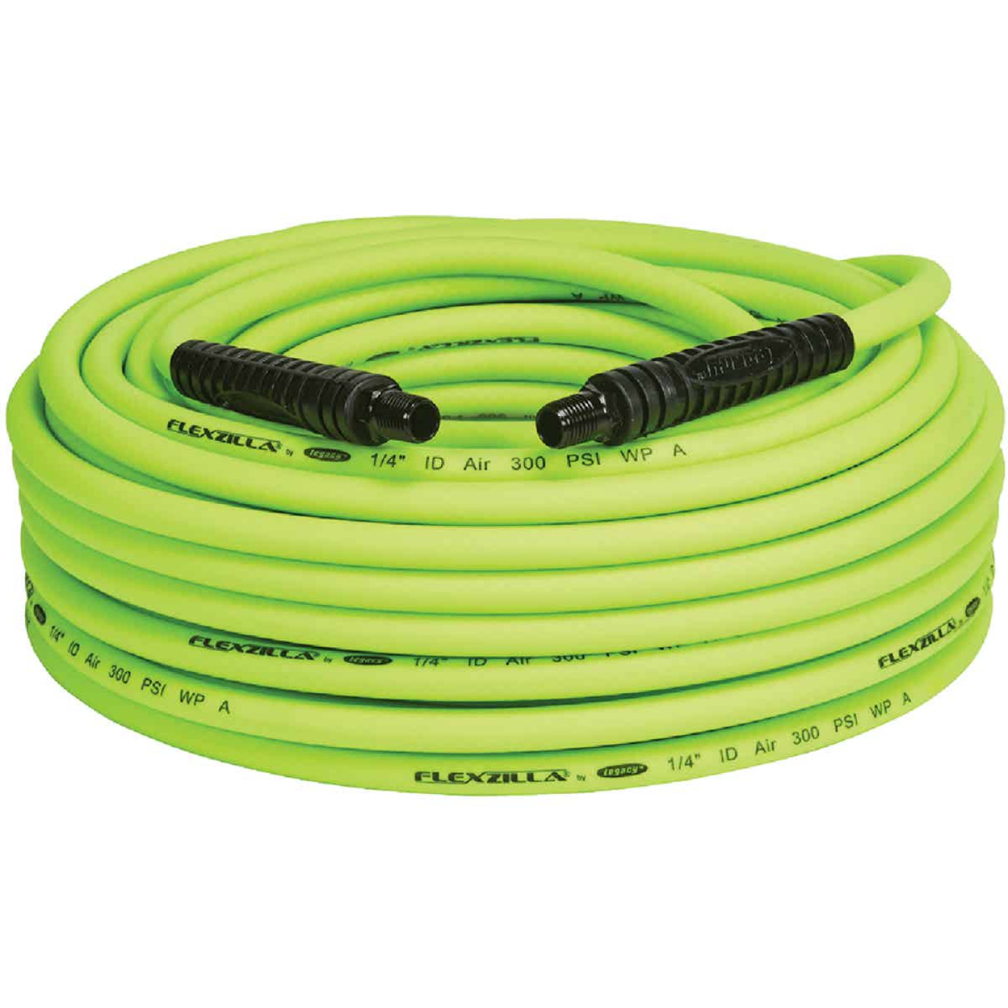 Flexilla 1/4 In. x 100 Ft. Polymer-Blend Air Hose with 1/4 In. MNPT Fittings Image 1
