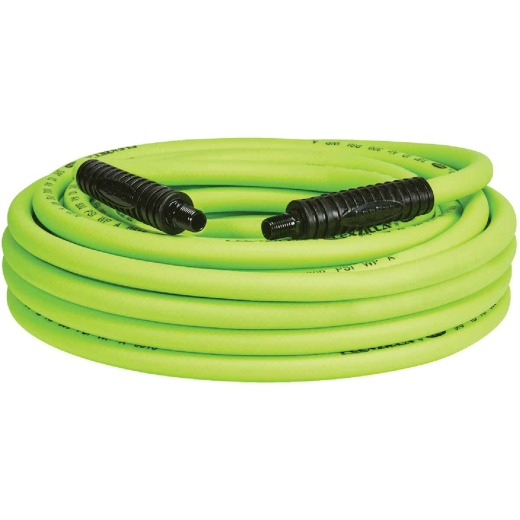 Flexilla 3/8 In. x 50 Ft. Polymer-Blend Air Hose with 1/4 In. MNPT Fittings