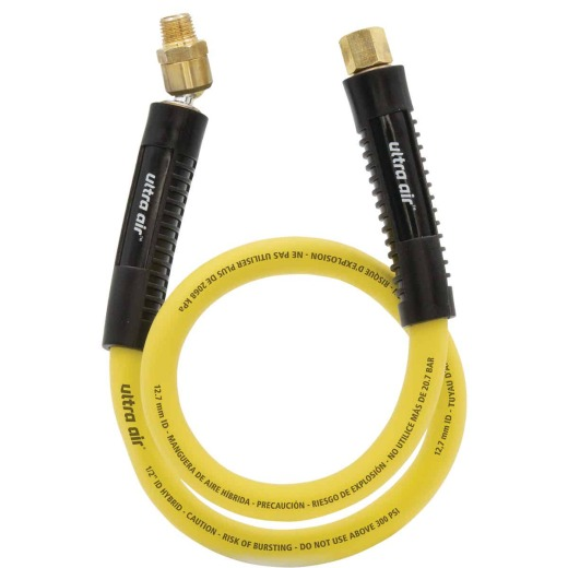 Amflo 3/8 In. x 30 In. Lead-In Air Hose with Ball Swivel