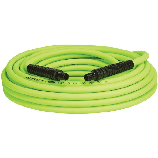 Flexilla 1/4 In. x 50 Ft. Polymer-Blend Air Hose with 1/4 In. MNPT Fittings