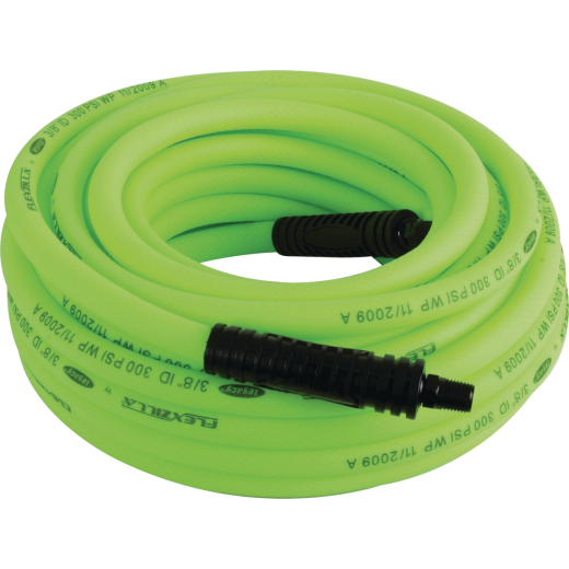 Flexilla 3/8 In. x 25 Ft. Polymer-Blend Air Hose with 1/4 In. MNPT Fittings