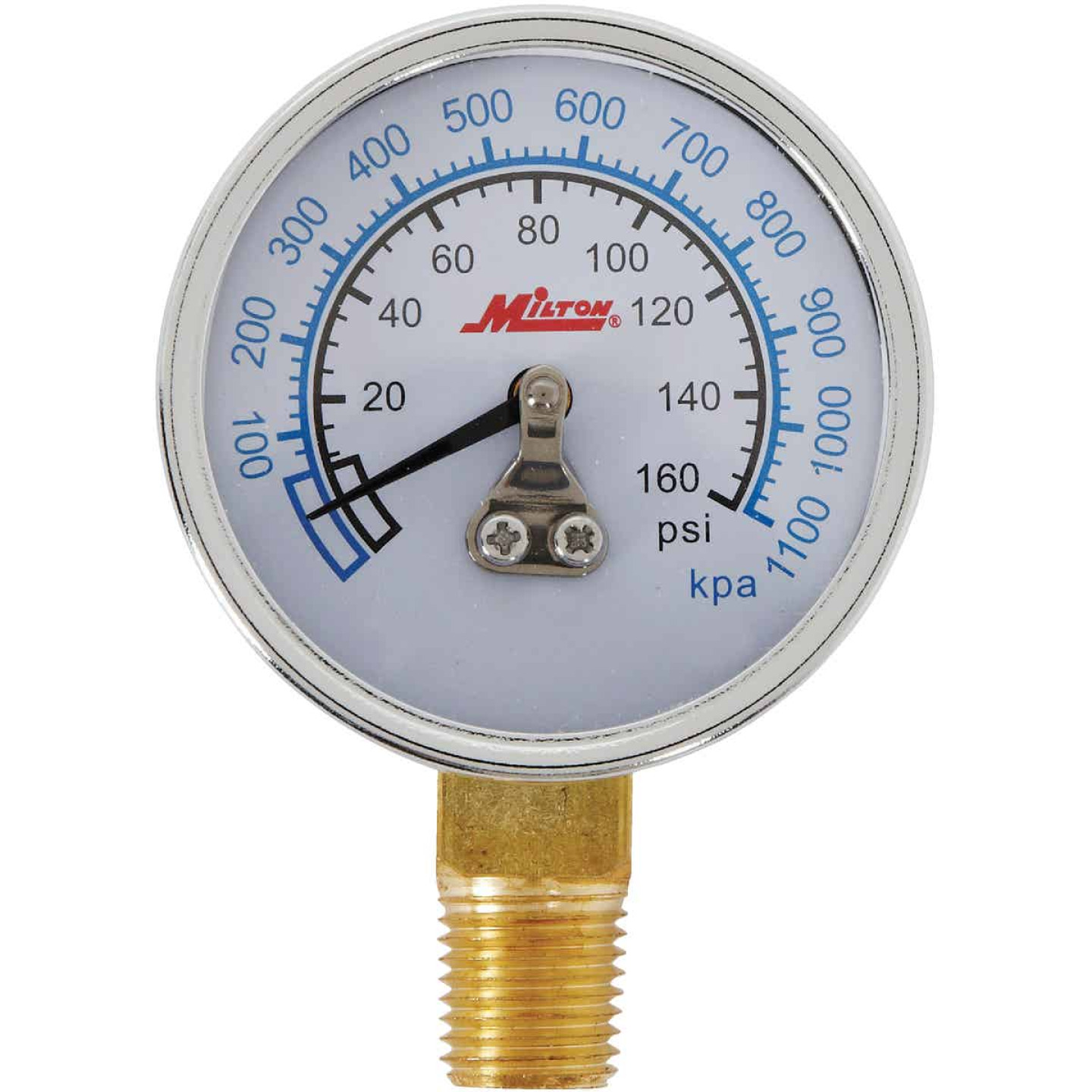 Milton 1/4 In. NPT Bottom Mount Pressure Gauge Image 1