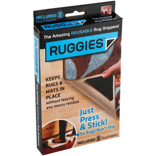 Ruggies Nonslip Rug Gripper Tape, (8-Pack)