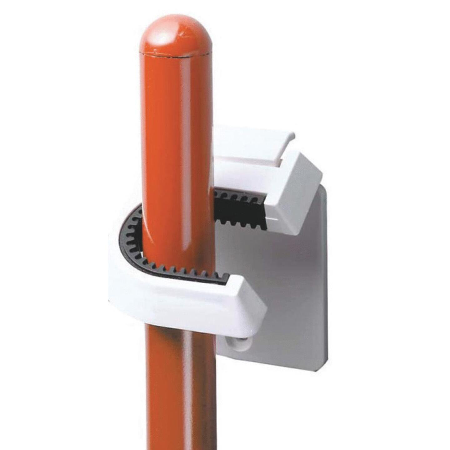 InterDesign Rubber Grip Broom Storage Hook Image 1