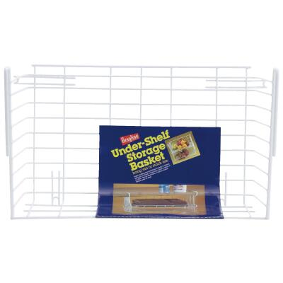 Grayline 10 In. W. x 6-1/4 In. H. x 17 In. L. Vinyl Coated Wire Undershelf Storage Basket, White