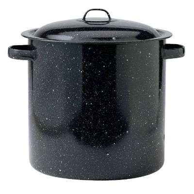 GraniteWare 15.5 Qt. Black Stockpot