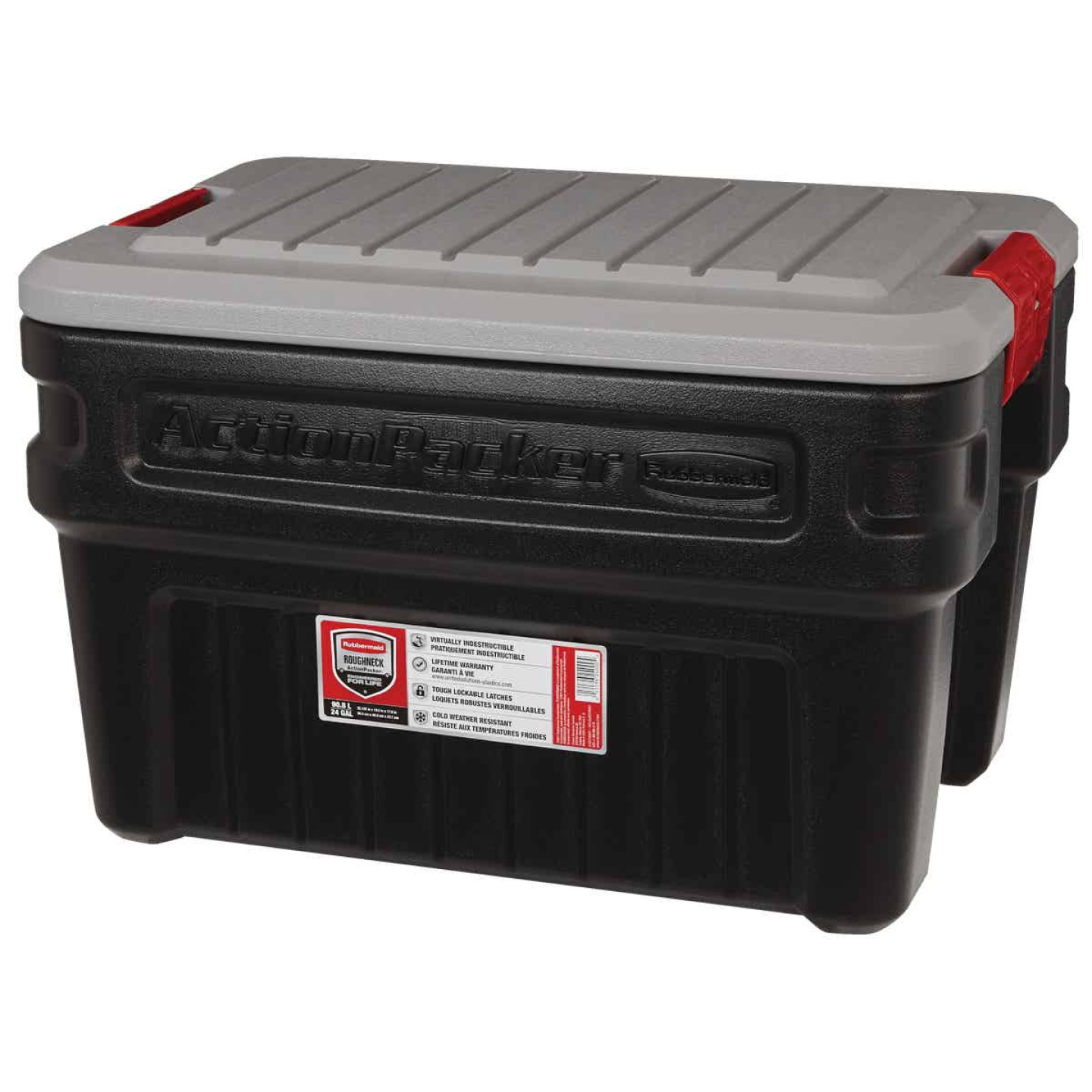 Rubbermaid ActionPacker 24 Gal. Black Storage Tote Image 2