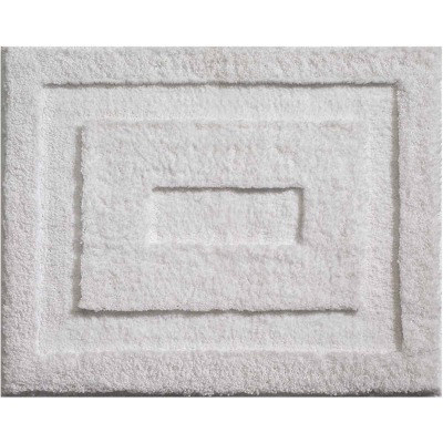 InterDesign Classico 1 Ft. 5 In. x 1 Ft. 9 In. Bath Rug, White