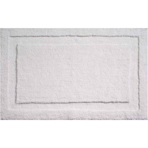 InterDesign Classico 1 Ft. 9 In. x 2 Ft. 10 In. Bath Rug, White