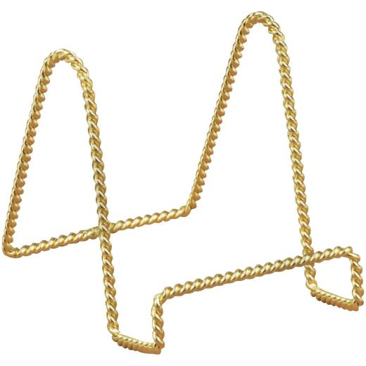 Tripar 4 In. Brass Twisted Wire Plate Stand