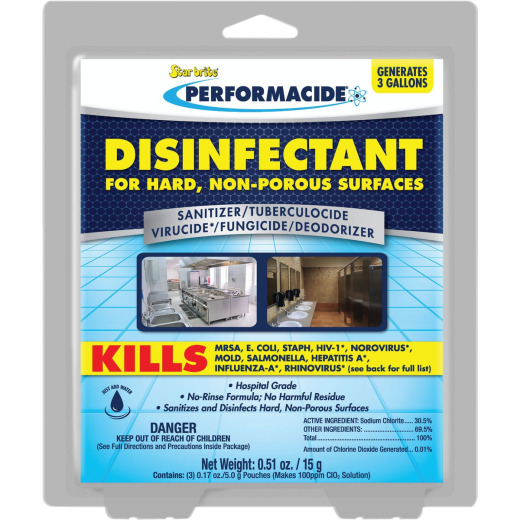 Starbrite Performacide 1 Gal. Hard Surface Disinfectant Refill (3-Pack)