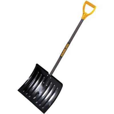 True Temper 18 In. Steel Snow Shovel with 37 In. Wood Handle