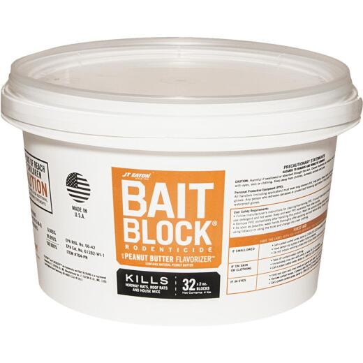 JT Eaton Bait Block Bar Rat And Mouse Poison (32 per Pail)