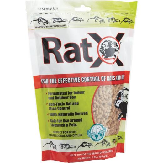 RatX Pellet Rat And Mouse Killer, 1 Lb.