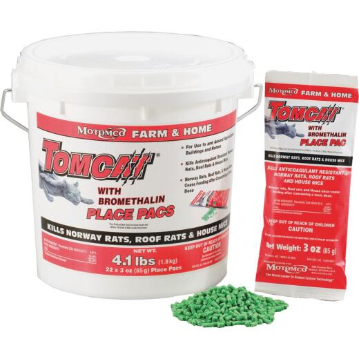 Tomcat Pellet Bait Pack Rat And Mouse Poison (22-Pack)