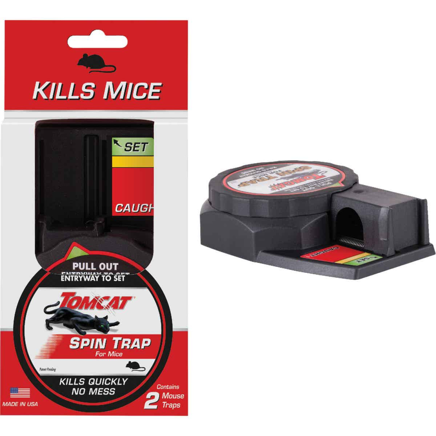 Tomcat Spin Trap Mechanical Mouse Trap (2-Pack) Image 1