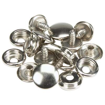 Lord & Hodge Metal Snap Fastener Refill for Canvas to Hard Surface (6 Ct.)