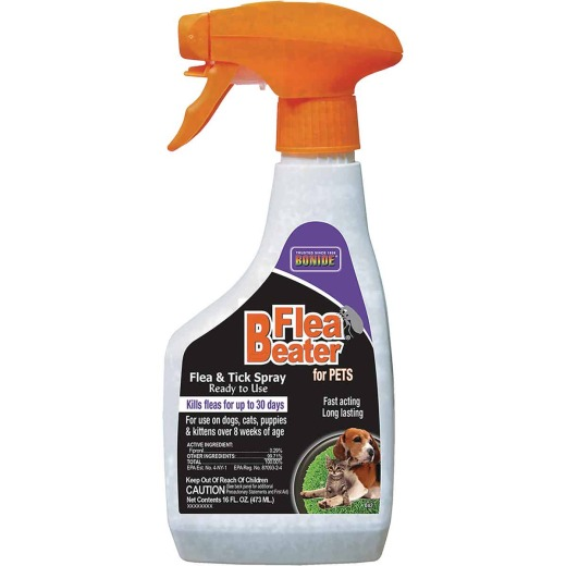 Bonide Flea Beater 30-Day 16 Oz. Flea & Tick Control Spray For Cats & Dogs