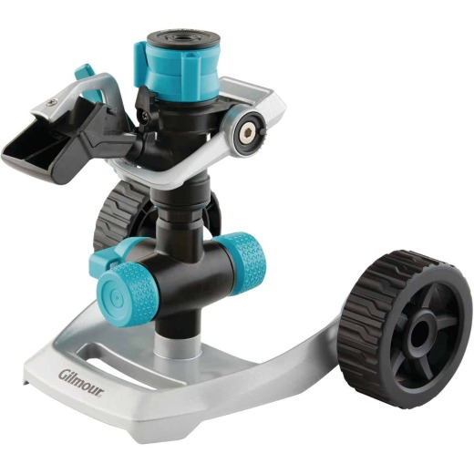 Gilmour Metal Heavy-Duty Impact Sprinkler with Wheel Base