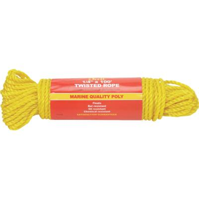 Do it 1/4 In. x 100 Ft. Yellow Twisted Polypropylene Packaged Rope