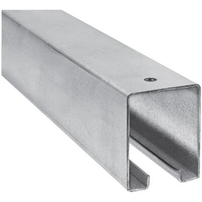 National 8 Ft. Galvanized Box Rail Barn Door Rail