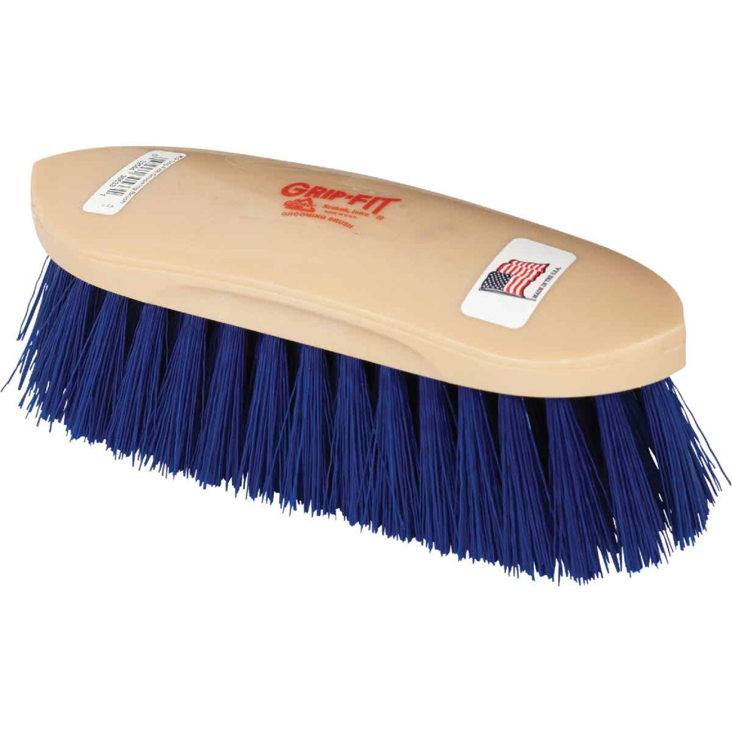 Decker Crimped Synthetic Bristles 2 In. Trim Size Medium Soft Grooming Brush Image 1