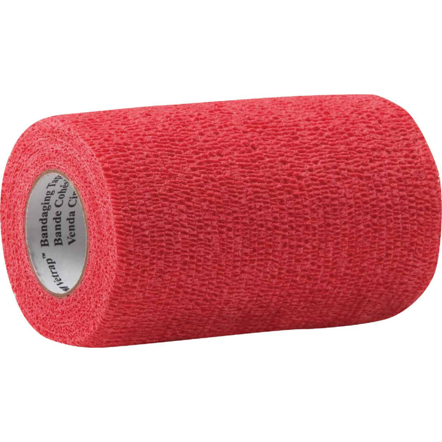 3M Vetrap 4 In. x 5 Yd. Red Bandaging Wrap Image 1
