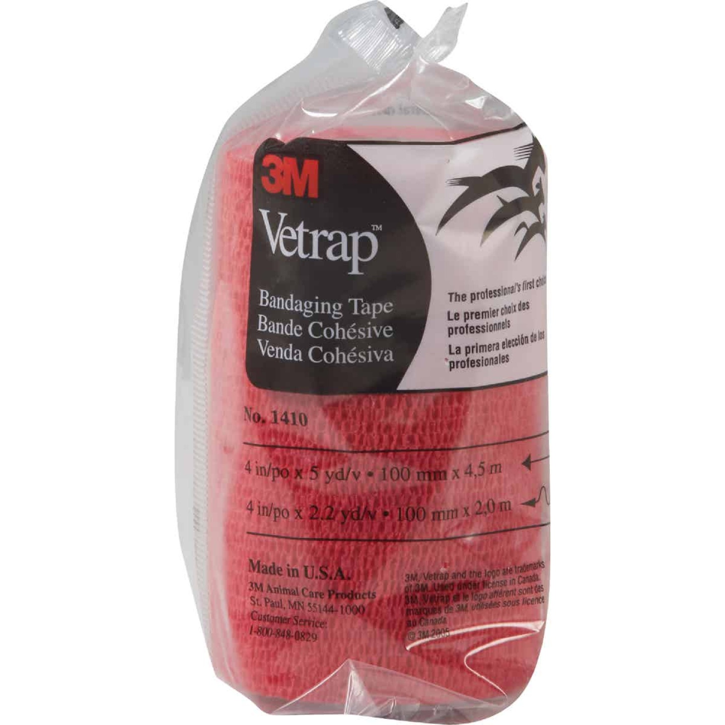 3M Vetrap 4 In. x 5 Yd. Red Bandaging Wrap Image 2
