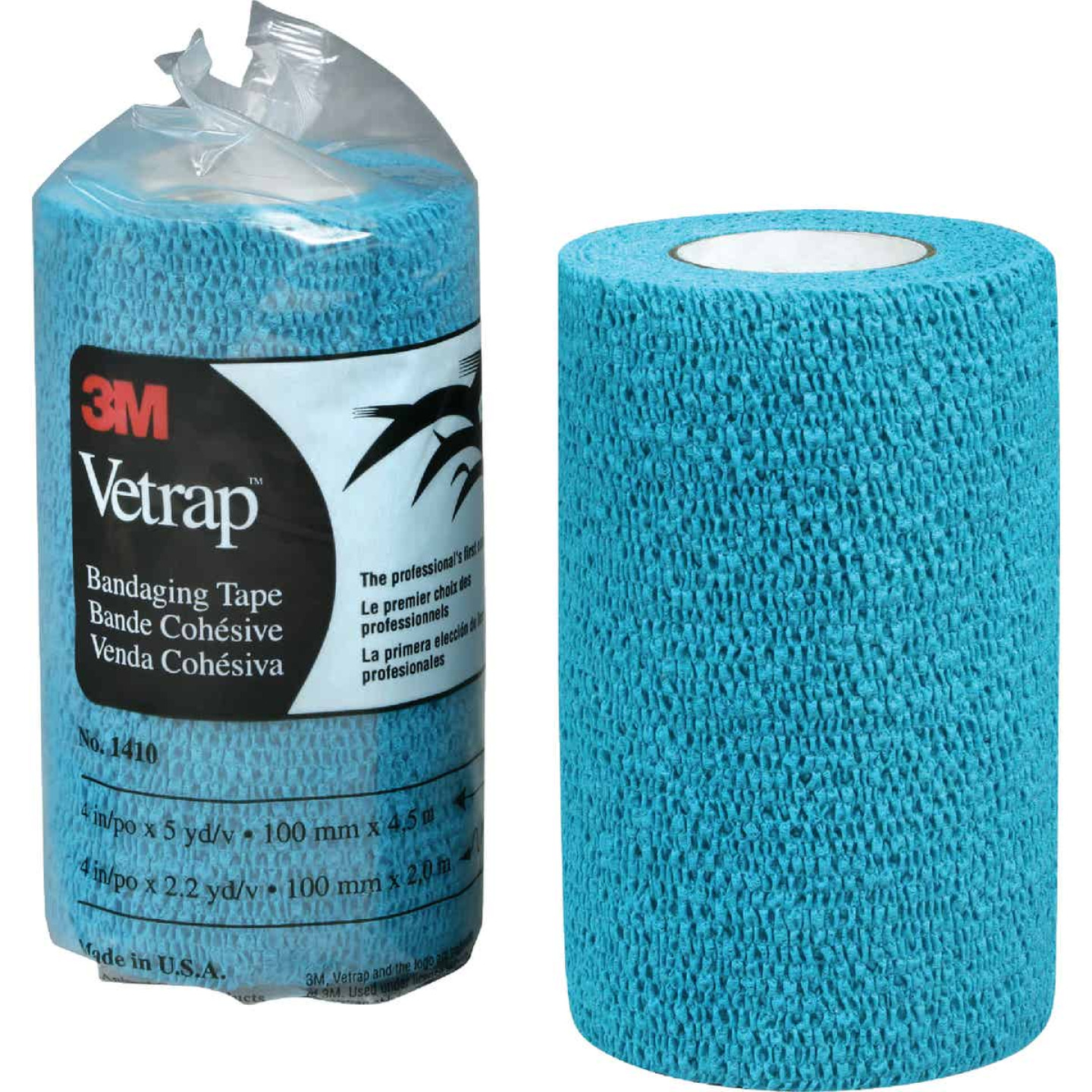 3M Vetrap 4 In. x 5 Yd. Blue Bandaging Wrap Image 1