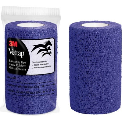3M Vetrap 4 In. x 5 Yd. Purple Bandaging Wrap