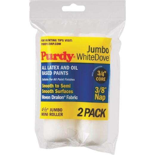 Purdy White Dove 4-1/2 In. x 3/8 In. Jumbo Mini Woven Fabric Roller Cover (2-Pack)