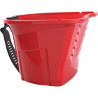 Handy Pro Pail 1 Qt. Red Paint Brush & Mini Roller Painter's Bucket With Adjustable Strap And Magnetic Brush Holder Image 1